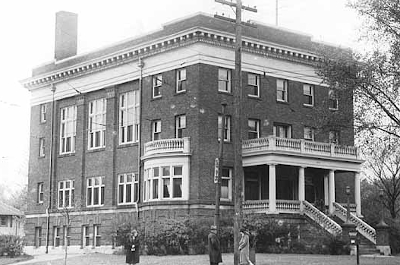 historical photo of charles thompson hall building