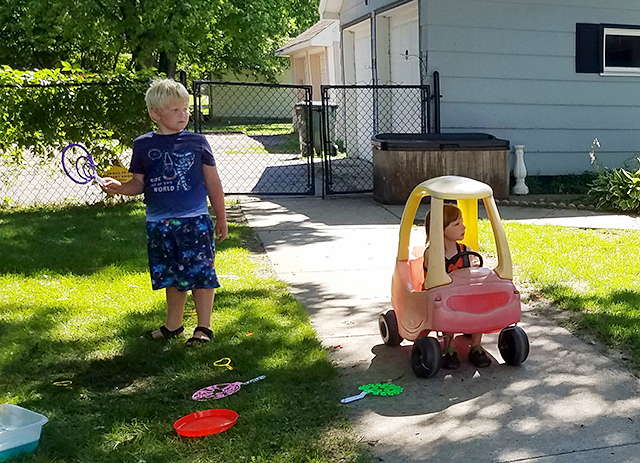 Children play at Lynn Barten's family child care business in Alexandria.