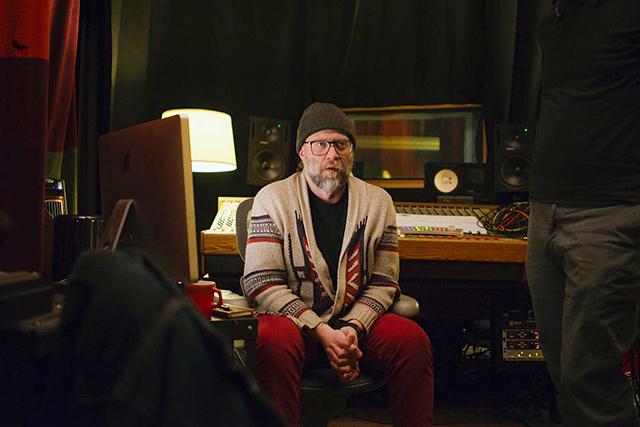 Cody McKinney in the studio.