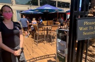 Bar patio reopened