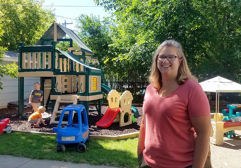 Lynn Barten, a family child care provider, in Alexandria
