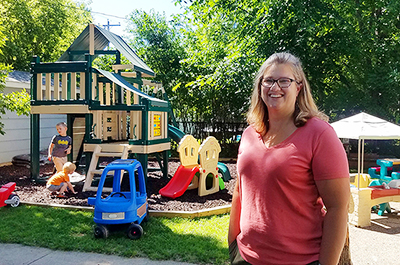 Lynn Barten, a family child care provider, in Alexandria