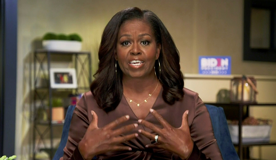 Former first lady Michelle Obama gave the evening's keynote address, hitting President Donald Trump hard.
