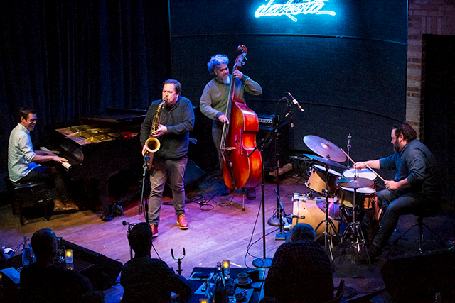 Left to right: Bryan Nichols, Michael Lewis, Jeff Bailey and JT Bates at the Dakota in November 2019.