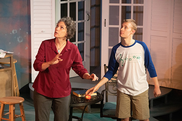 """Laura Stearns and Sean Carroll in the 2019 production of """"O my God!"""""""