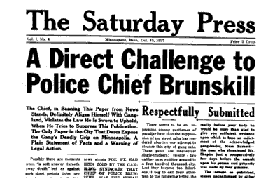 The October 15, 1927 edition of The Saturday Press