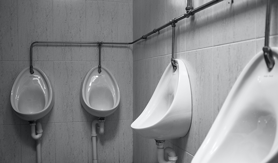 Researchers found that 57 percent of the tiny aerosol particles ejected by flushing a urinal leave the urinal.