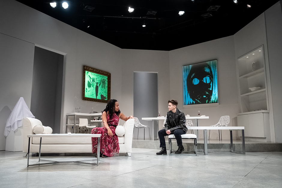 "Lynnette Freeman and Jay Owen Eisenberg in Claudia Rankine's ""The White Card,"" the last play Penumbra presented pre-COVID."