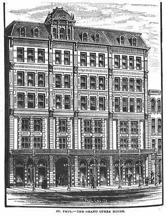 drawing of grand opera house