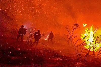 a fire in Alpine, California