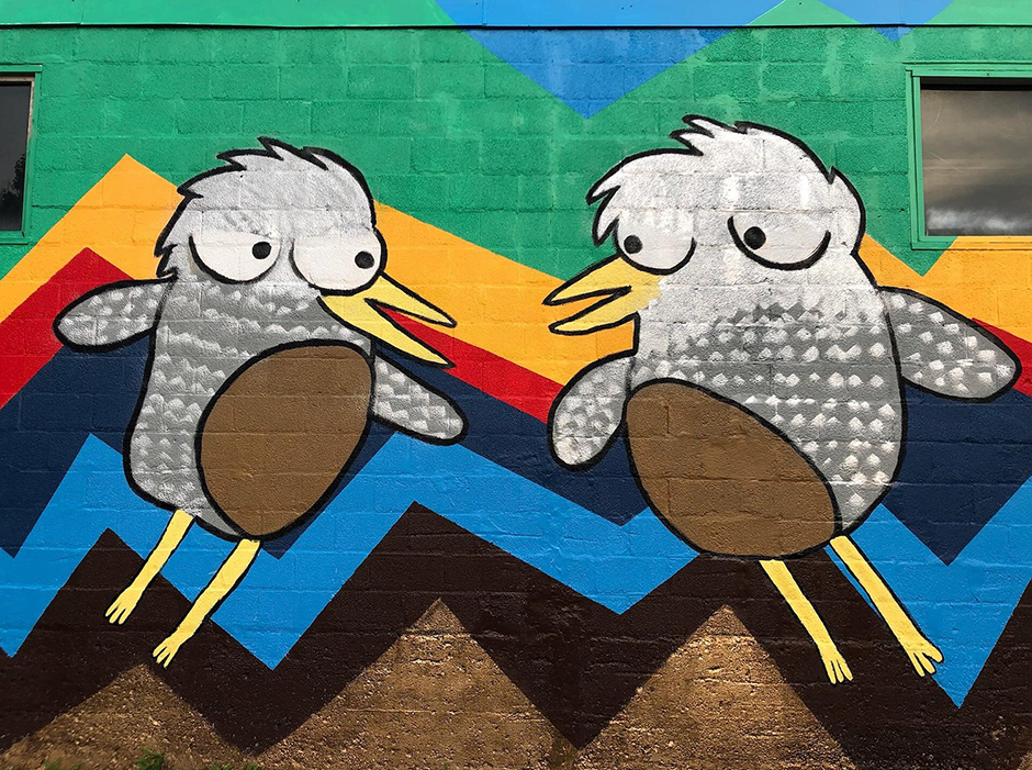 Bird Enterprise Zone by Beatrix*Jar, was created during the 2020 CEZ Summer Mural Project.