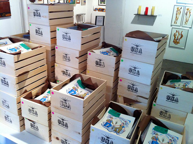 An image of CSA boxes from 2011.