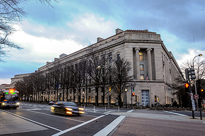 The U.S. Department of Justice building