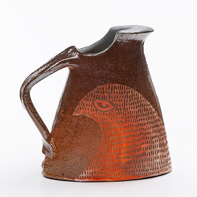 A pitcher by potter Peter Jadoonath.