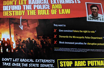 "Republican flyers proclaim DFL candidate Aric Putnam a friend to ""radical extremists"""