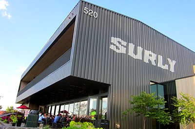 Surly Brewing Co.'s beer hall and pizzeria