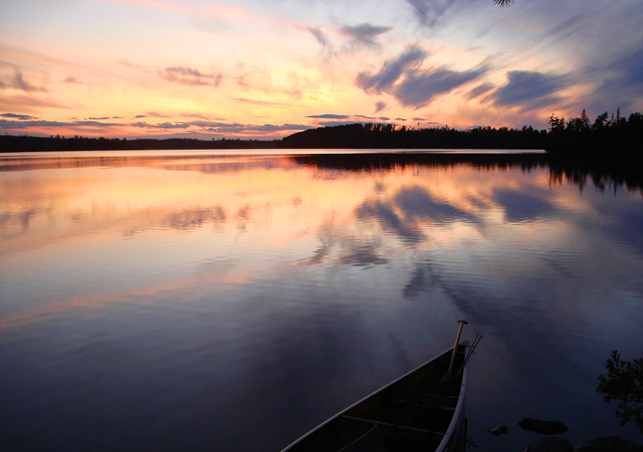 The Boundary Waters Canoe Area Wilderness is a 1.1 million square-mile region with 1,600 lakes.