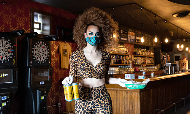 Black Hart bar owner Wes Burdine organized a curbside drag effort earlier in the summer, where drag queens delivered to-go food to folks in the parking lot.