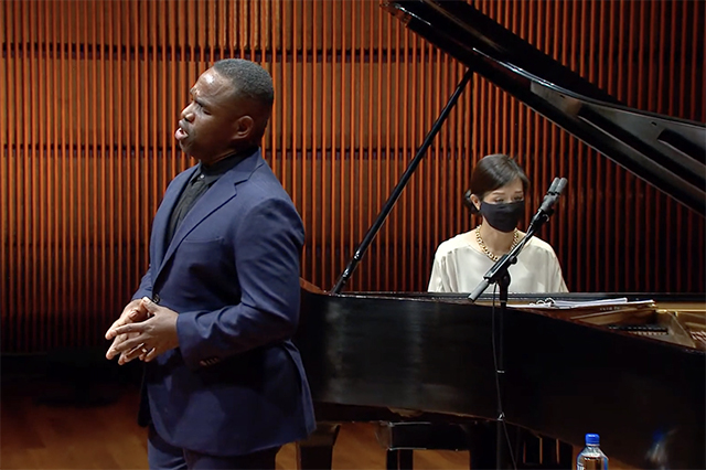 The Schubert Club presented a Sunday afternoon concert by Lawrence Brownlee and Myra Huang.