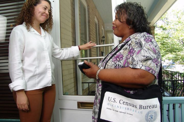 For any address or group that does not self-report, the Census Bureau sends out canvassers to gather information.