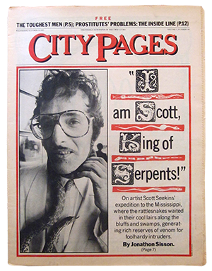 City Pages cover featuring artist Scott Seekins, October 12, 1983.