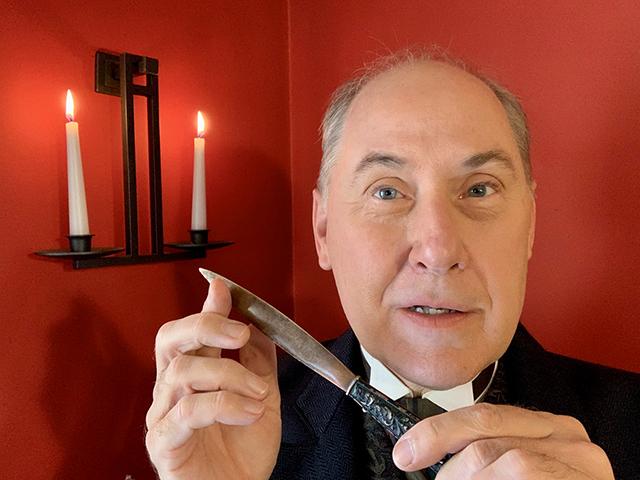 "Craig Johnson, host of Park Square's ""Theatre of the Macabre."""