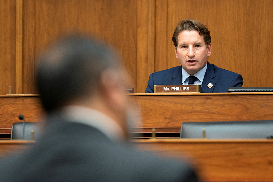 Rep. Dean Phillips speaking during a House Committee on Foreign Affairs hearing on September 16.
