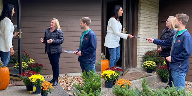 Last weekend, Young Republicans from eight states converged on the 7th Congressional District to help GOP nominee Michelle Fischbach, center, hit 4,000 doors and have 6,000 phone and text contacts.