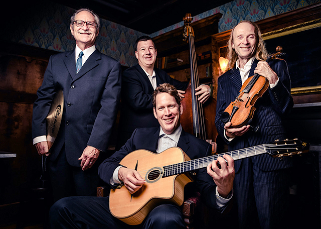 Gypsy Mania Hot Club Quartet plays lively, foot-stomping, feel-good so-called Gypsy jazz made famous by Django Reinhardt.