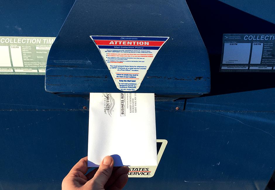 Mailing absentee ballot