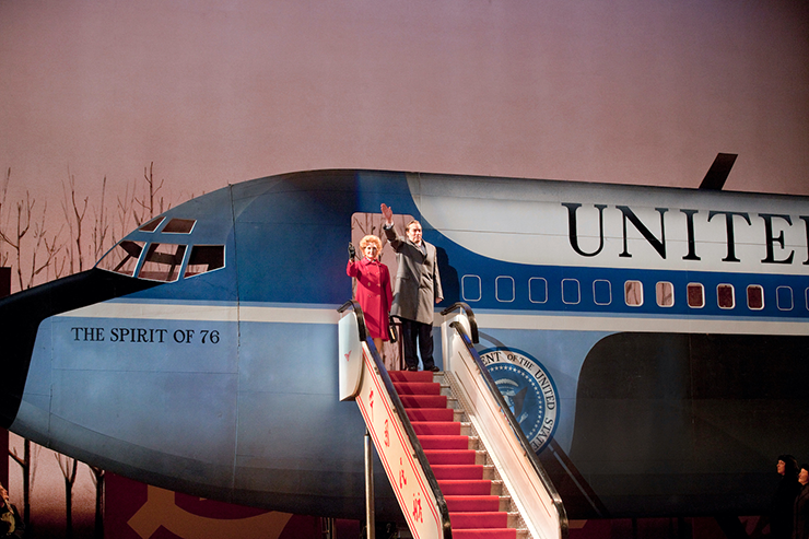 "Janis Kelly as Pat Nixon and James Maddalena as Richard Nixon in ""Nixon in China."""