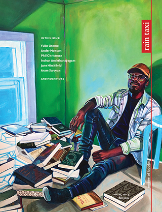 Fall 2020 issue of Rain Taxi Review of Books with art by Leslie Barlow and Keno Evol