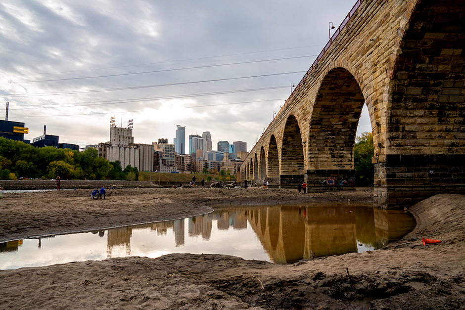 The slow drawdown was done so that the Army Corps of Engineers could inspect the upper and lower locks and dams at St. Anthony Falls.