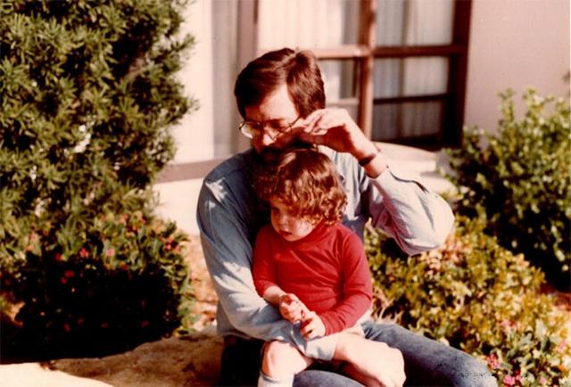 Warren Shore holds his daughter Harper Marten circa 1980.