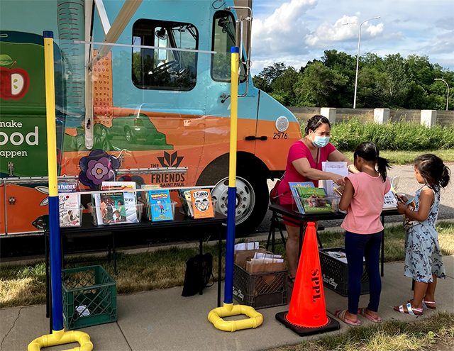 In St. Paul, the trusty Bookmobile made more rounds than usual heading to the city's least-served neighborhoods.