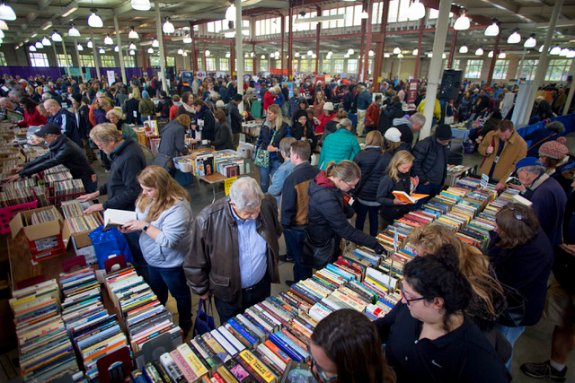 An image from a pre-COVID Twin Cities Book Festival, held on the State Fairgrounds.