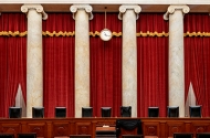 An interior view of the Supreme Court