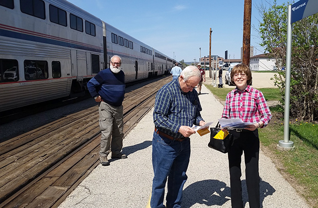 Lobbying in Great River Rails to support a second daily train in Winona.