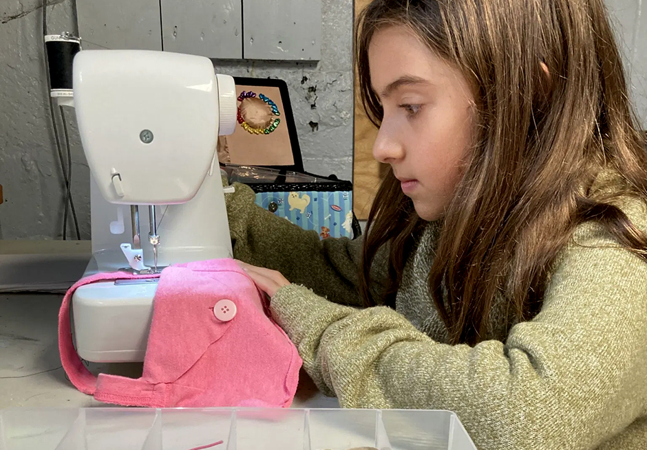 The author's daughter has spent much of the pandemic learning how to problem solve with her sewing machine.