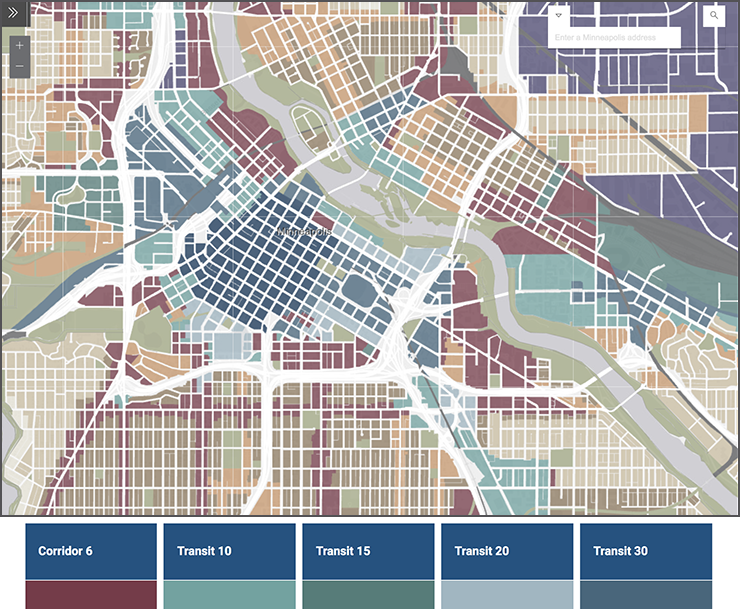 The Built Form map in the Minneapolis 2040 Plan.