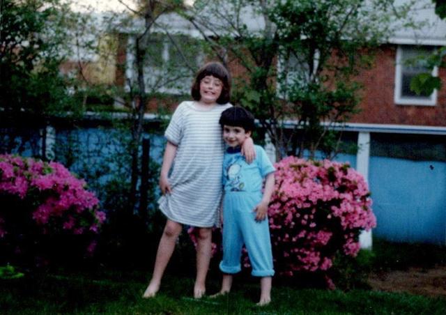 A childhood snapshot of Kramer and Cordova.