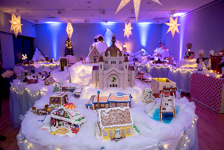 Norway House's popular holiday tradition is a miniature world made of gingerbread, frosting and gumdrops.