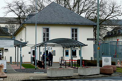 The Consulate General of the United States of America is pictured in Frankfurt, Germany.