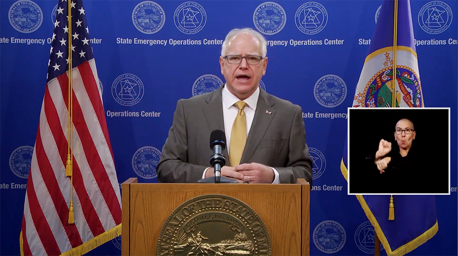 "Gov. Tim Walz: ""We are in the midst of a significant surge in coronavirus cases. I wish I could tell you that this was unexpected, but it was not."""