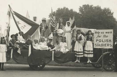 historical photo of parade float