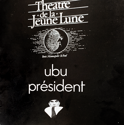"""Ubu"" theater program graphic."
