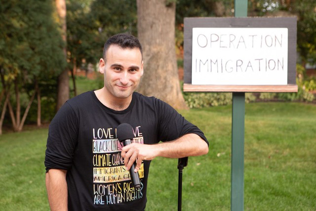"Avi Aharoni in ""Operation: Immigration."""