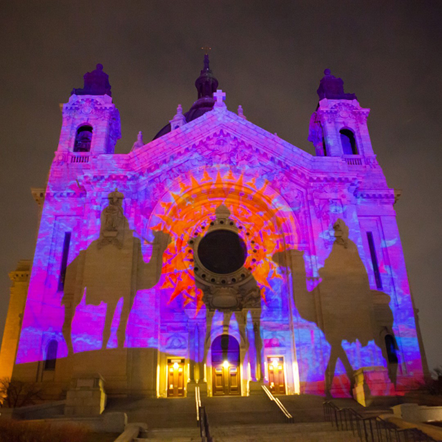 Using the cathedral as a canvas, a large-scale light and sound projection will tell the story of the Nativity.