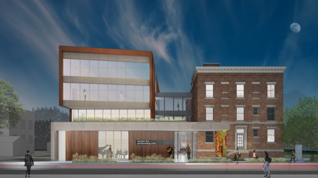 The Center for Performing Arts artists' rendering.