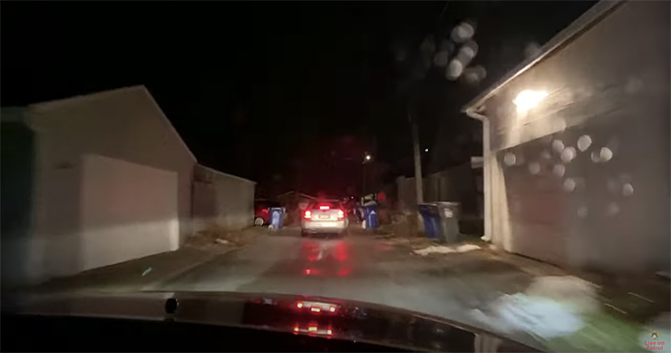 Ramsey County Sheriff Bob Fletcher's dashcam from Nov. 18 showing a pursuit through a St. Paul alley.